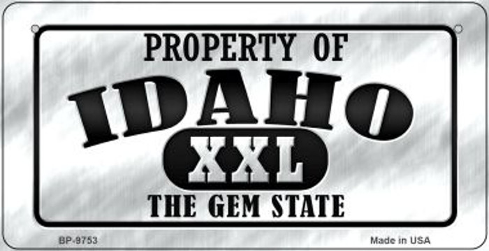 Property Of Idaho Novelty Metal Bicycle Plate BP-9753