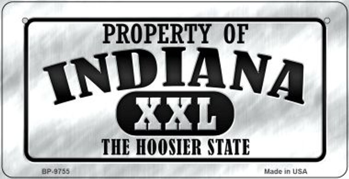 Property Of Indiana Novelty Metal Bicycle Plate BP-9755