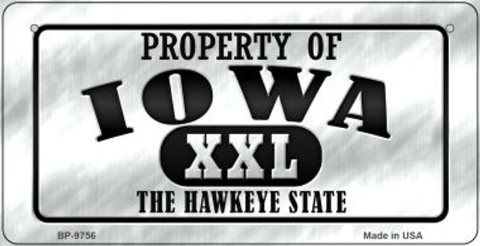 Property Of Iowa Novelty Metal Bicycle Plate BP-9756