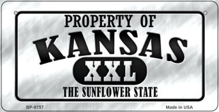 Property Of Kansas  Novelty Metal Bicycle Plate BP-9757