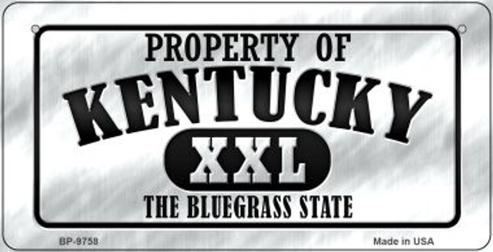 Property Of Kentucky Novelty Metal Bicycle Plate BP-9758