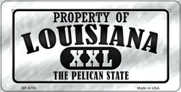 Property Of Louisiana Novelty Metal Bicycle Plate BP-9759