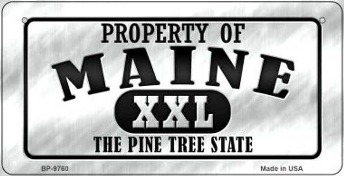 Property Of Maine Novelty Metal Bicycle Plate BP-9760