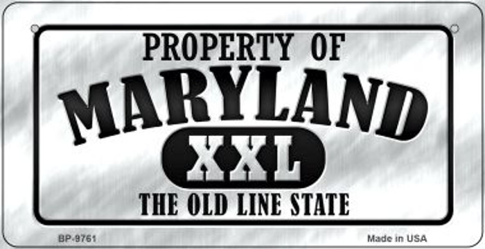 Property Of Maryland Novelty Metal Bicycle Plate BP-9761
