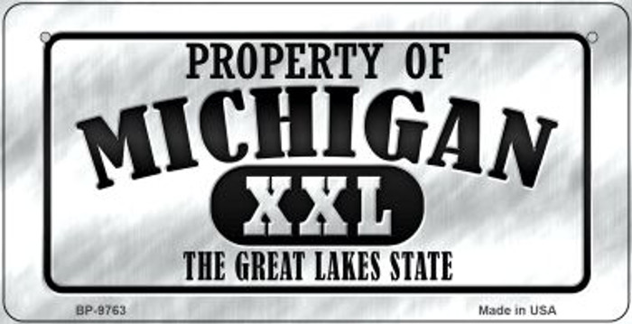 Property Of Michigan Novelty Metal Bicycle Plate BP-9763