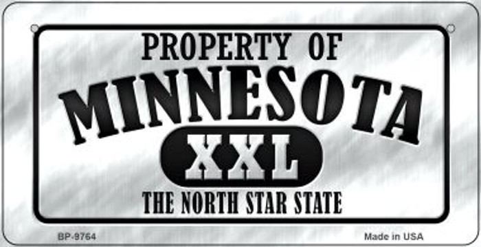 Property Of Minnesota Novelty Metal Bicycle Plate BP-9764