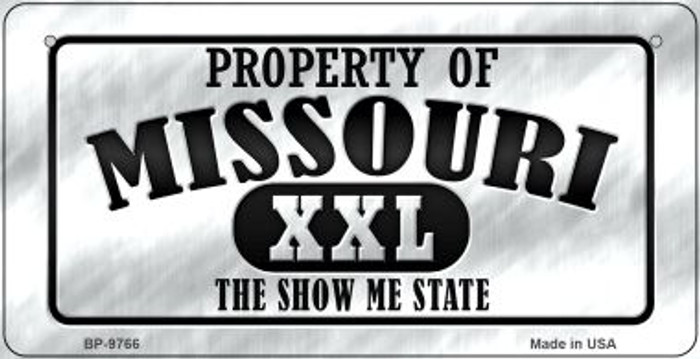 Property Of Missouri Novelty Metal Bicycle Plate BP-9766