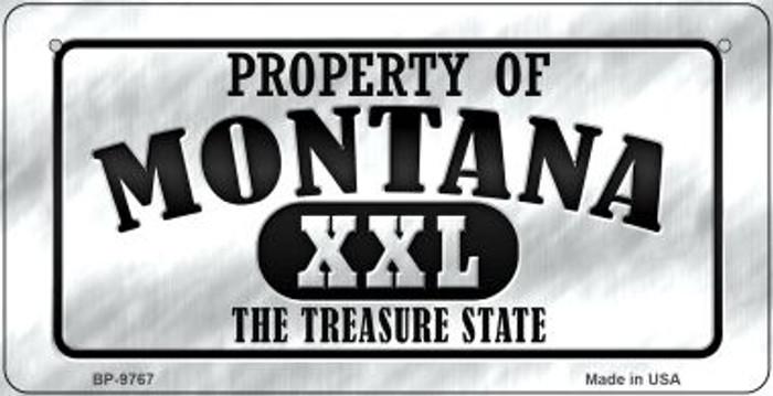 Property Of Montana Novelty Metal Bicycle Plate BP-9767