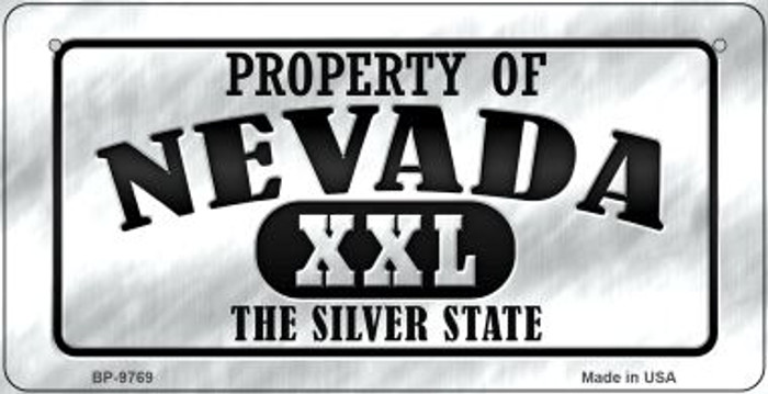 Property Of Nevada Novelty Metal Bicycle Plate BP-9769