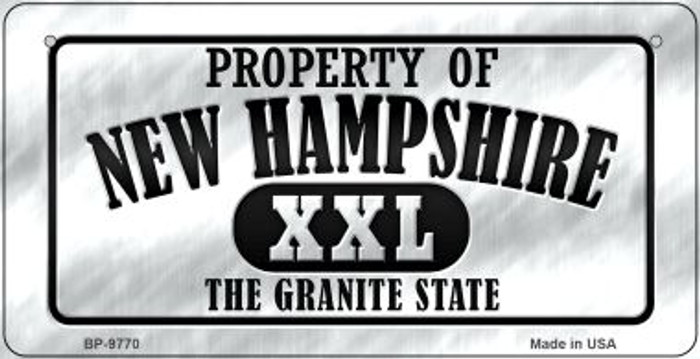 Property Of New Hampshire Novelty Metal Bicycle Plate BP-9770