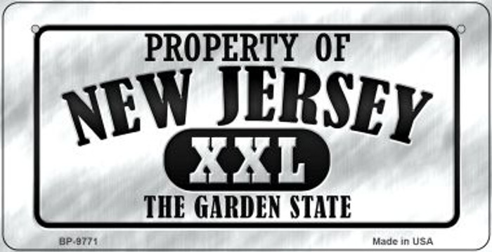 Property Of New Jersey Novelty Metal Bicycle Plate BP-9771