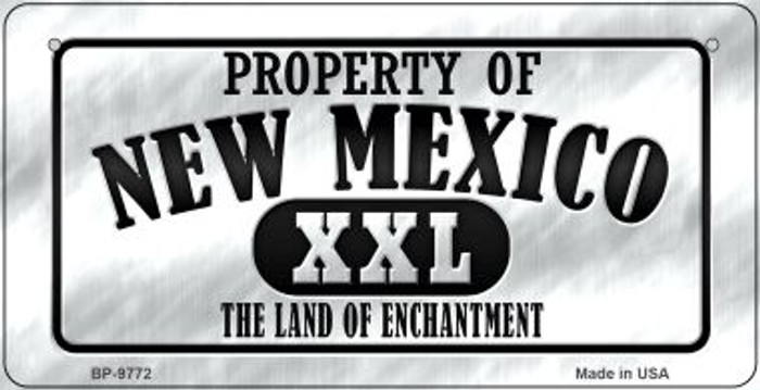 Property Of New Mexico Novelty Metal Bicycle Plate BP-9772