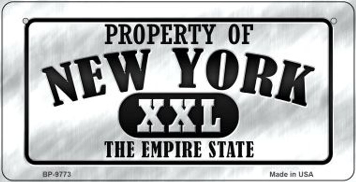 Property Of New York Novelty Metal Bicycle Plate BP-9773