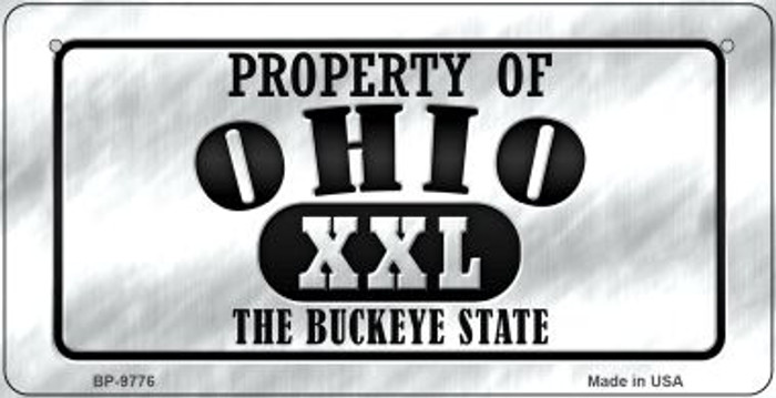 Property Of Ohio Novelty Metal Bicycle Plate BP-9776