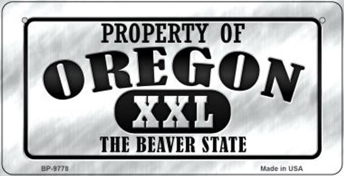 Property Of Oregon Novelty Metal Bicycle Plate BP-9778