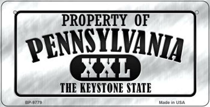 Property Of Pennsylvania Novelty Metal Bicycle Plate BP-9779