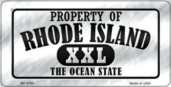 Property Of Rhode Island Novelty Metal Bicycle Plate BP-9780