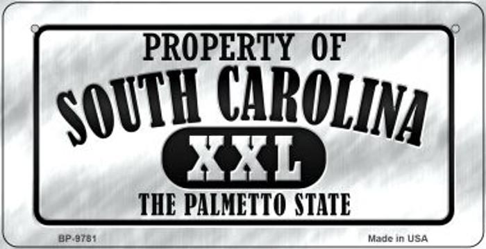 Property Of South Carolina Novelty Metal Bicycle Plate BP-9781
