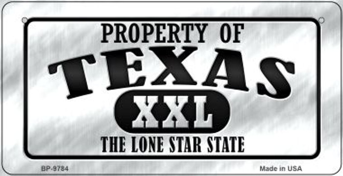 Property Of Texas Novelty Metal Bicycle Plate BP-9784