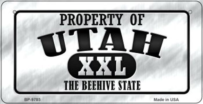 Property Of Utah Novelty Metal Bicycle Plate BP-9785