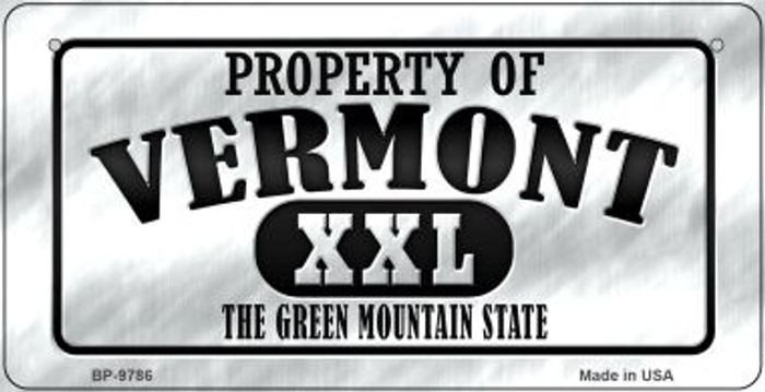Property Of Vermont Novelty Metal Bicycle Plate BP-9786