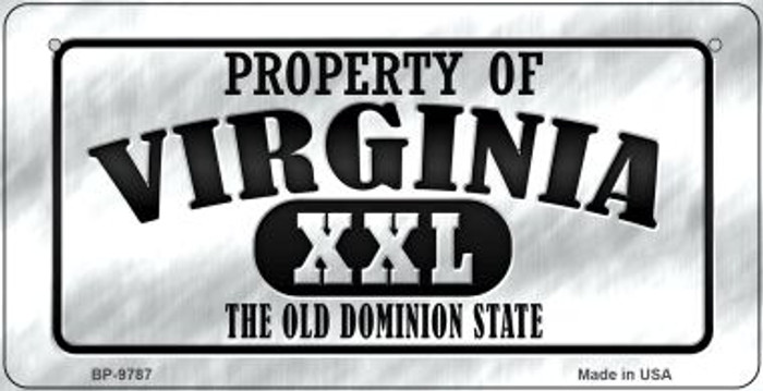 Property Of Virginia Novelty Metal Bicycle Plate BP-9787