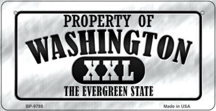 Property Of Washington Novelty Metal Bicycle Plate BP-9788