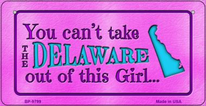 Delaware Girl Novelty Metal Bicycle Plate BP-9799