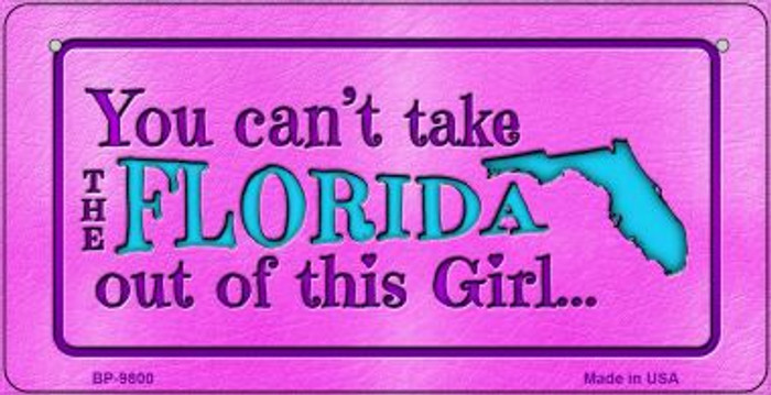 Florida Girl Novelty Metal Bicycle Plate BP-9800