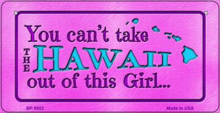 Hawaii Girl Novelty Metal Bicycle Plate BP-9802