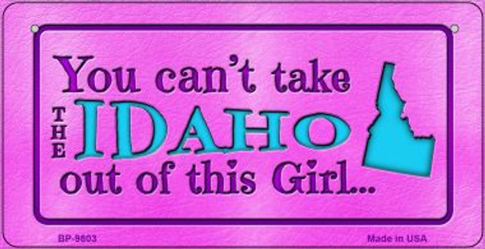 Idaho Girl Novelty Metal Bicycle Plate BP-9803