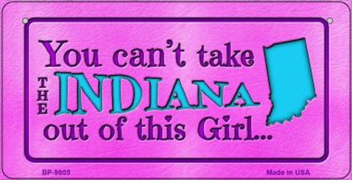 Indiana Girl Novelty Metal Bicycle Plate BP-9805