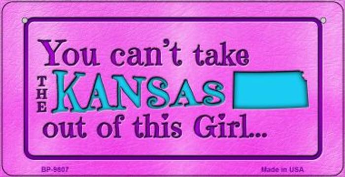 Kansas Girl Novelty Metal Bicycle Plate BP-9807