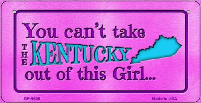 Kentucky Girl Novelty Metal Bicycle Plate BP-9808