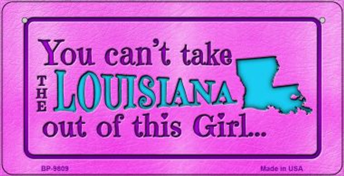 Louisiana Girl Novelty Metal Bicycle Plate BP-9809