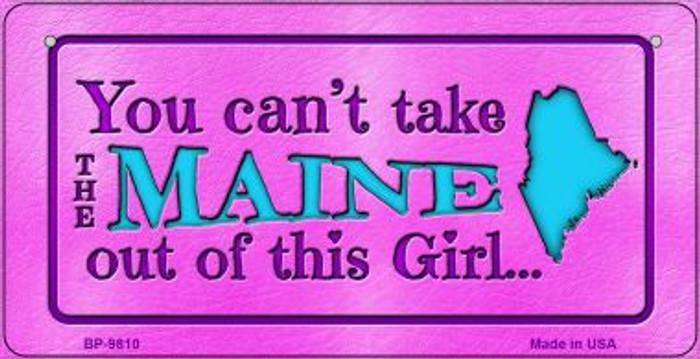 Maine Girl Novelty Metal Bicycle Plate BP-9810