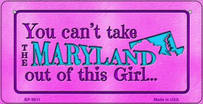 Maryland Girl Novelty Metal Bicycle Plate BP-9811