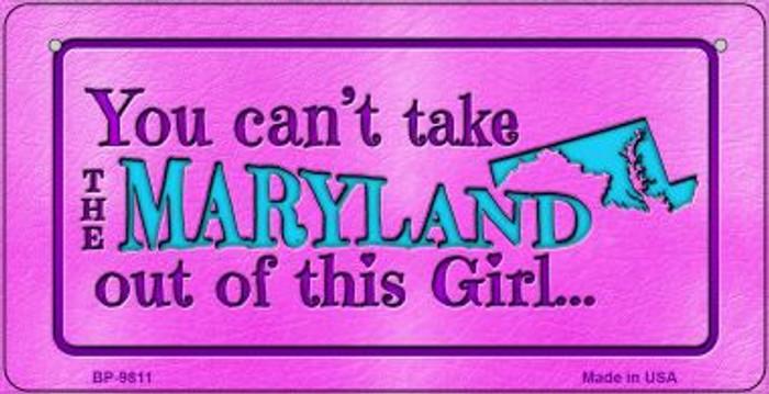 Maryland Girl Novelty Metal Bicycle Plate BP-9811