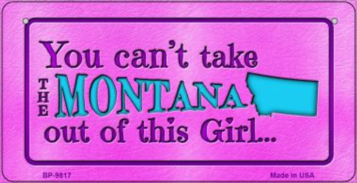 Montana Girl Novelty Metal Bicycle Plate BP-9817