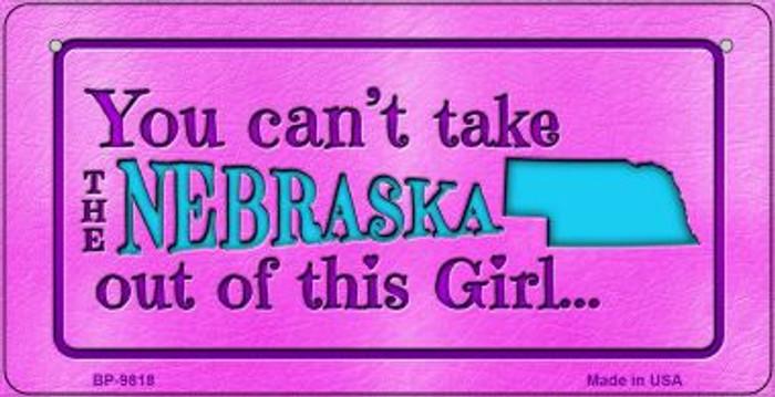 Nebraska Girl Novelty Metal Bicycle Plate BP-9818