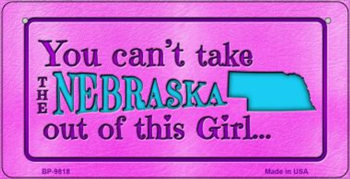 Nebraska Girl Novelty Metal Bicycle Plate BP-9818