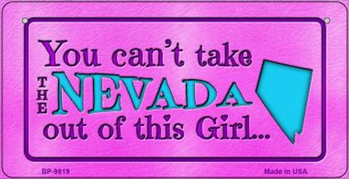Nevada Girl Novelty Metal Bicycle Plate BP-9819