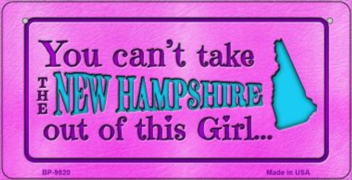 New Hampshire Girl Novelty Metal Bicycle Plate BP-9820