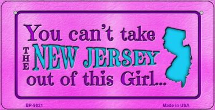 New Jersey Girl Novelty Metal Bicycle Plate BP-9821