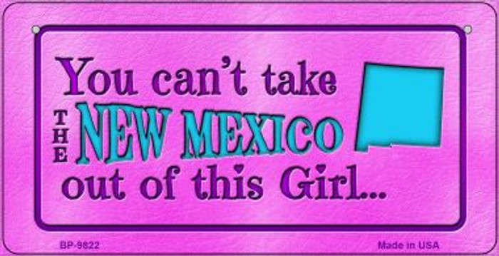 New Mexico Girl Novelty Metal Bicycle Plate BP-9822