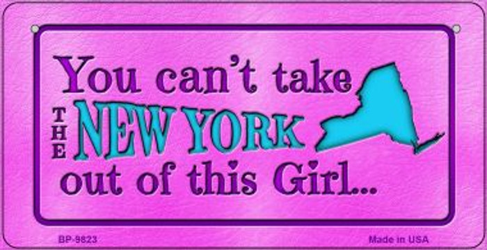 New York Girl Novelty Metal Bicycle Plate BP-9823