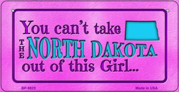 North Dakota Girl Novelty Metal Bicycle Plate BP-9825