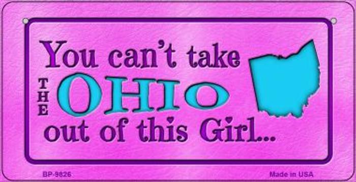 Ohio Girl Novelty Metal Bicycle Plate BP-9826