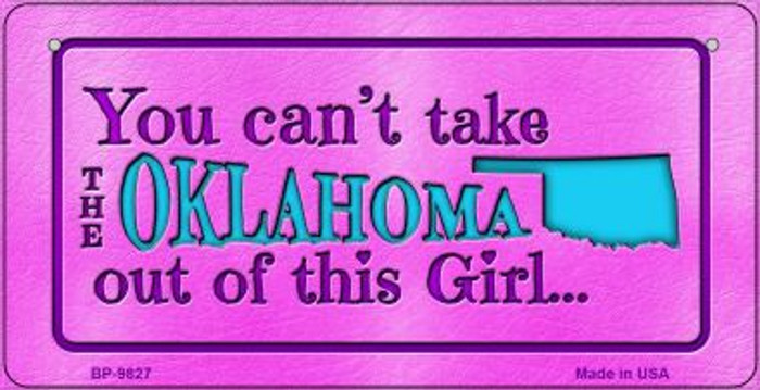 Oklahoma Girl Novelty Metal Bicycle Plate BP-9827