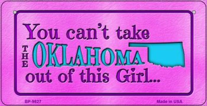 Oklahoma Girl Novelty Metal Bicycle Plate BP-9827
